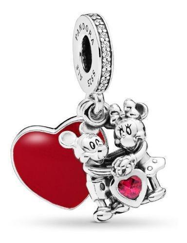 Charm Pandora Dije Minnie Y Mickey Con Amor, Disney S925
