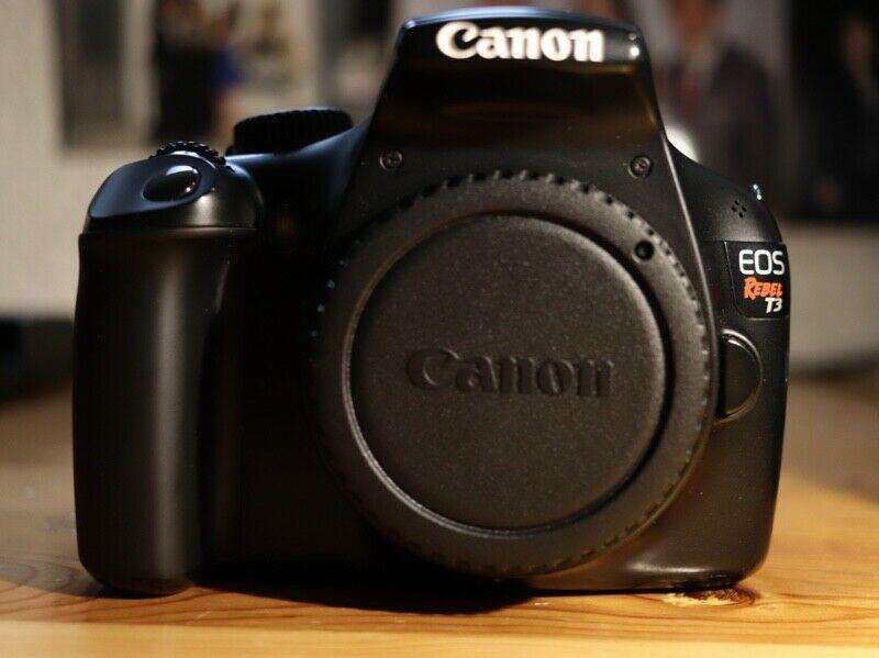 Cámara Canon EOS Rebel T3 & lente EF-S  III