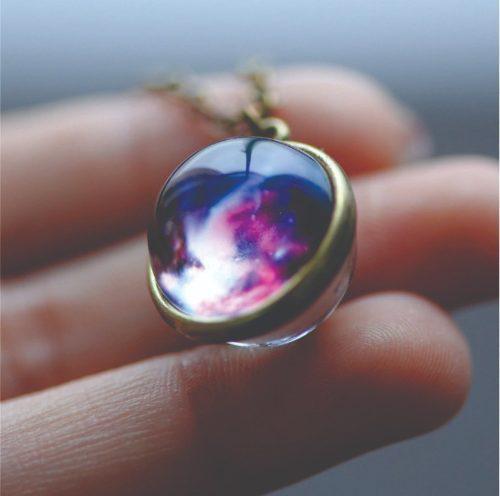 Collar Cristal Universo Fluorescente Varios Diseños Mpb-284