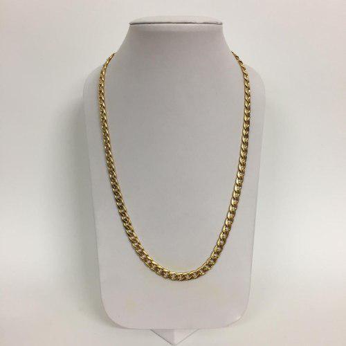 Collar De Acero Inoxidable Color Oro Groumet Envio Gratis