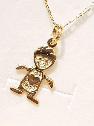 Collar De Niño De Oro Laminado Con Cadena Envio Gratis