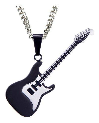 Collar Dije Guitarra Electrica Unisex Acero Inoxidable