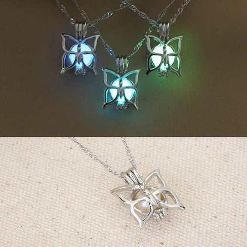 Collar Mariposa Brilla Oscuridad Original + Estuche + Envío