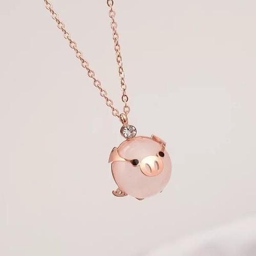 Collar Puerquito Dije Cerdito Kawaii Mini Pig
