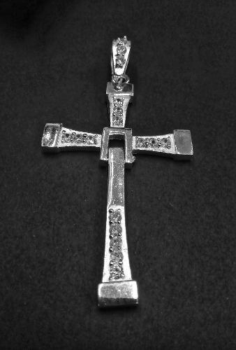 Cristo Torreto Rapido Y Furioso Grande Plata Ley.925