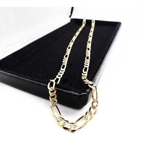 Diamantada Cadena Cartier 7.7gr Oro Sólido 10k 3.7mm & 55cm