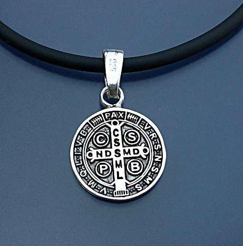 Dije Acabdo Pavonado Medalla San Benito En Plata Ley.925