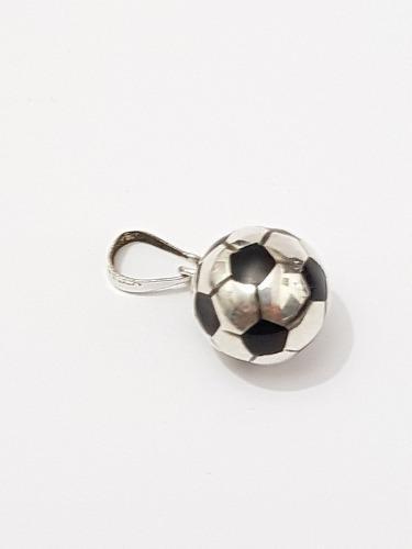 Dije Balon De Futbol De Plata 925 Con Estuche Gratis