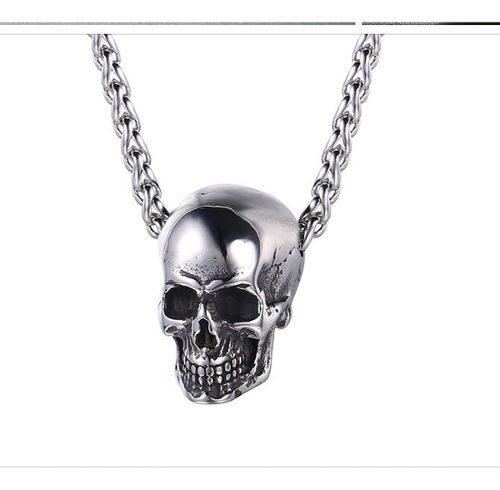 Dije Collar Craneo Skull Acero Inoxidable Premium
