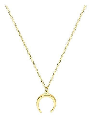 Eskaparate Collar De Luna Hecho En Plata.925 Chapado En Oro