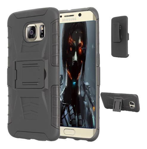 Funda Clip + Cristal Galaxy S5 S6 S7 S8 S9 S10 Edge Plus