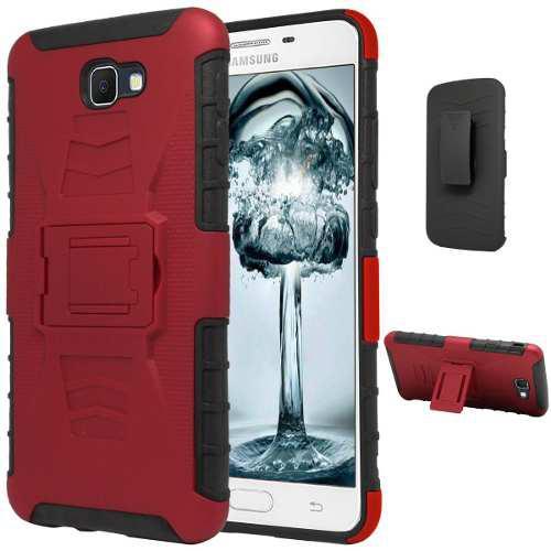 Funda Clip Host + Cristal Protector Galaxy J7 Prime Sm-g610