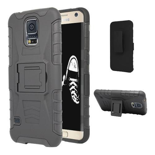 Funda Clip Uso Rudo Galaxy S5 S6 S7 S8 S9 S10 Lite Edge Plus