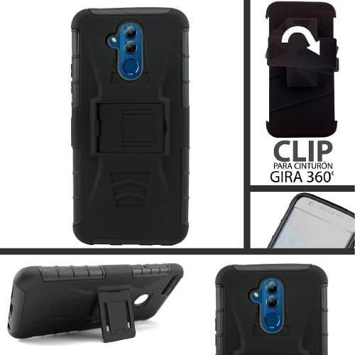 Funda Protector Uso Rudo Clip Huawei Mate 20 Lite Con Envio