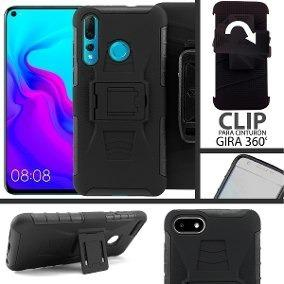 Funda Protector Uso Rudo Clip Huawei P30 Lite Con Envio