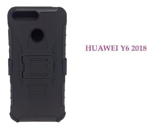 Funda Protector Uso Rudo Clip Huawei Y6 2018 Con Envio