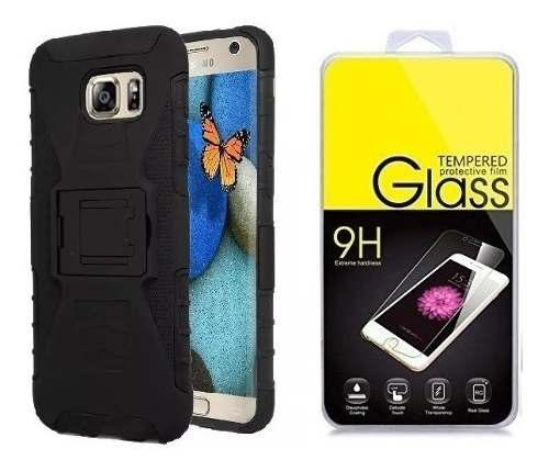 Funda Uso Rudo + Mica Galaxy S4 S5 S6 S7 S8 S9 S10 Plus Note