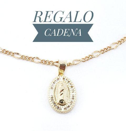 Hermosa Virgen De Guadalupe Bautizo Oro 10k & Cadena Cartier