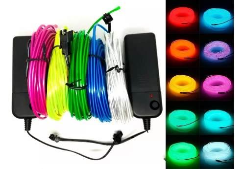 Hilo De Tira Led Neon 3 Metros Wire Cable Luminoso Flexible