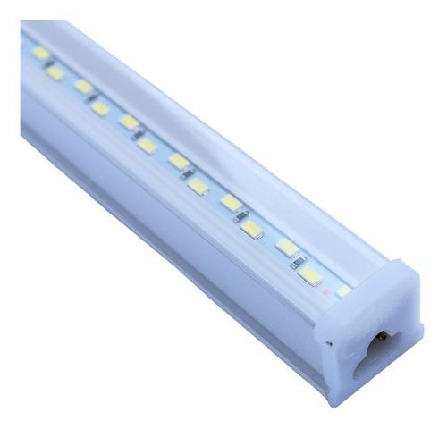 Lampara Doble Linea De Led 9w 60 Cm Canaleta Luz Blanca Fria