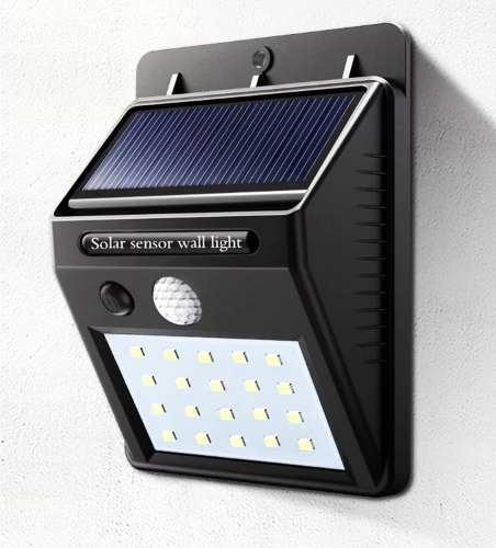 Lampara Solar 30 Led Movimiento Seguridad Noche Pared Exteri