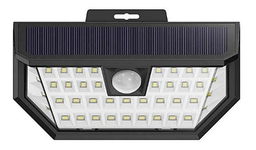 Lampara Solar 48 Led Exterior Angulo Amplio Jardin Sensor