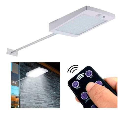 Lampara Solar 48 Led Luz Permanentemente Con Control