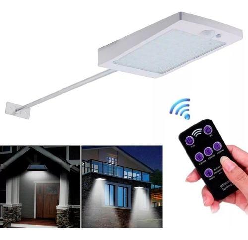 Lampara Solar 48 Led Sensor Luz Permanentemente Con Control