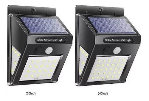 Lámpara Solar 40 Led Con Luz Lateral Y Sensor De Movimiento