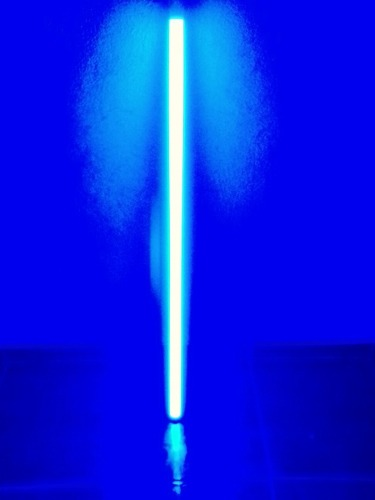 Luz Negra Tira Led Tubo Azul 1.20 M Refleja Colores