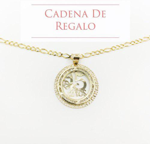 Medalla 15 Años Oro 10k Y Hermosa Cadena De Regalo