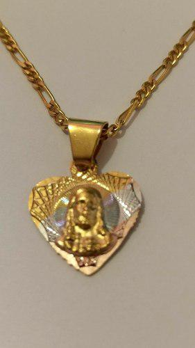 Medalla De Sagrado Corazon 1.5 Cm Con Cadena Y Envio Gratis