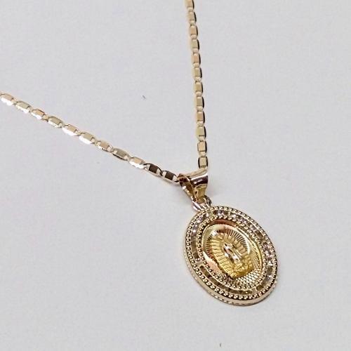 Medalla Para Bautizo Y Cadena Oro 10k