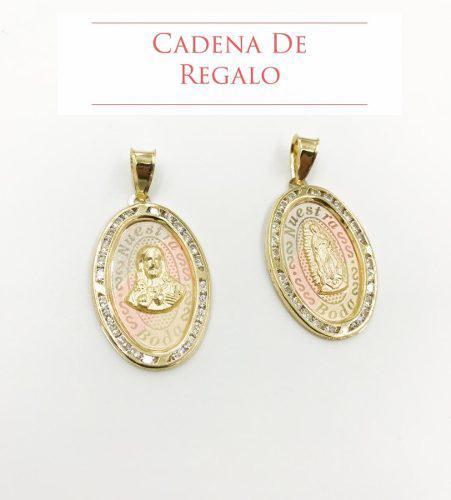 Medallas Nuestra Boda Oval Oro 10k + Cadena De Regalo