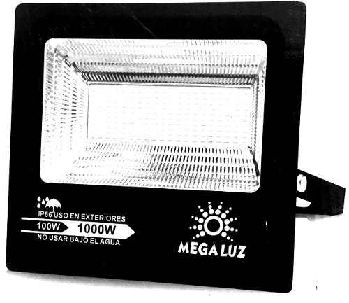 Reflector Led 100w Exterior Megaluz Mod R100w005 Max Potenci