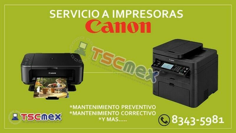 Reparación y Mantenimiento a Impresoras Canon en Monterrey