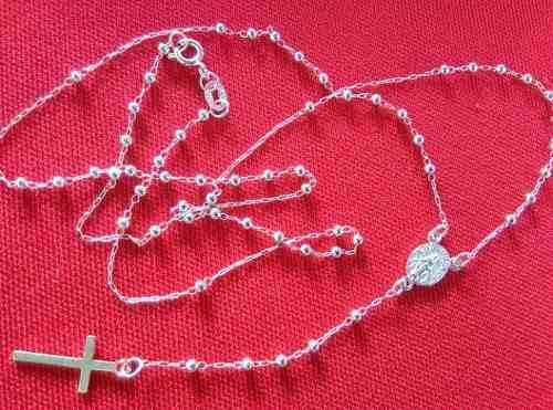 Rosario De Plata.925, Virgen Milagrosa Collar, Delicado