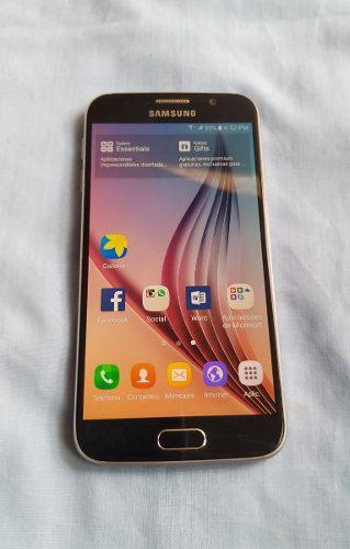 Samsung Galaxy S6 Negro, At&t. Unefon, Estetica De 9, Oferta