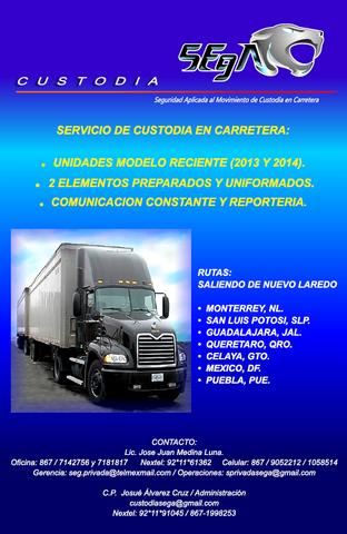 Servicio de Custodia en Nuevo Laredo.