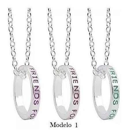 Set 3 Collares 3 Anillos Mejores Amigos Forever Friends Bff