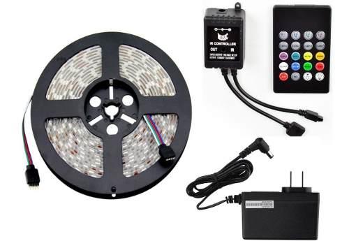 Tira Led Rgb Audioritmica 5 Metros Kit Completo Envio Gratis