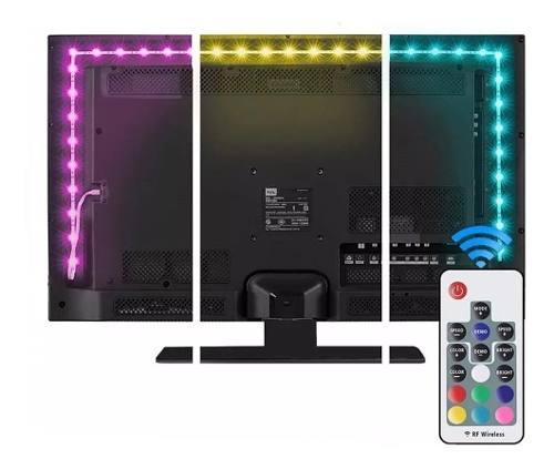 Tira Luz Led Para Tv 2m Rgb Con Control Remoto Para Monitor