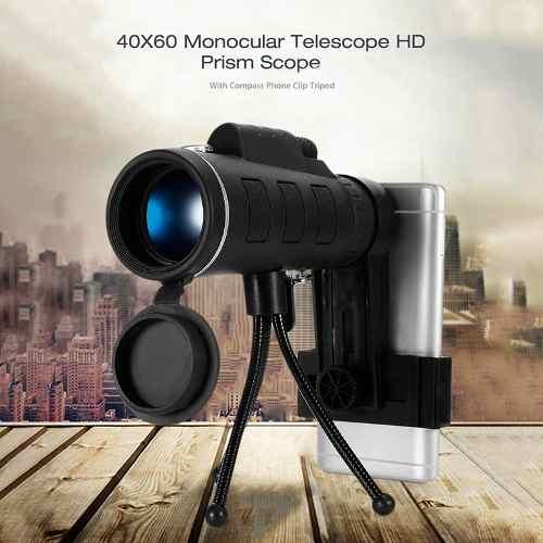 40x60 Bak4 Telescopio Monocular Hd Mini Monocular Para Acamp