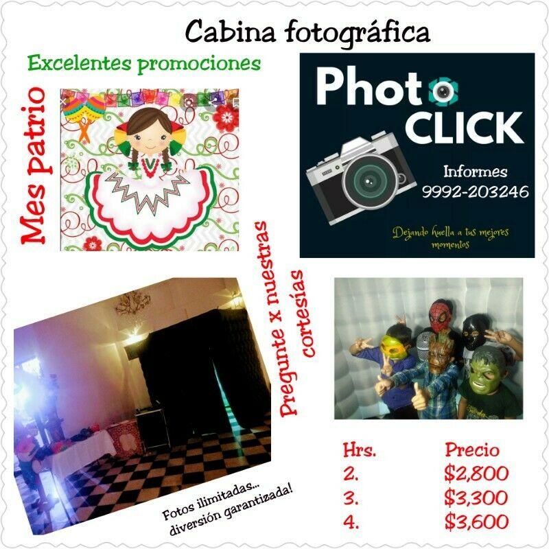 Cabina de fotos en renta