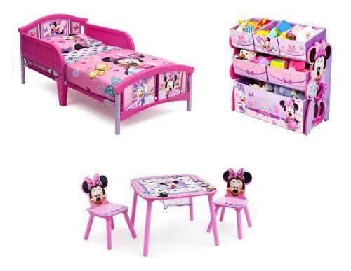 Cama Toddler, Juguetero Y Mesita Minnie Mouse, Envio Gratis