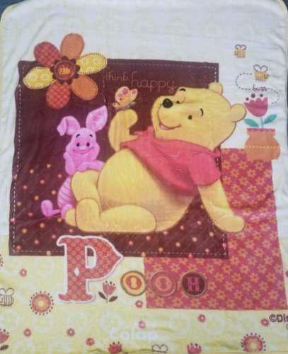 Cobertor De Bebe Pooh Cafe 1.10 X 1.40, Marca Colap