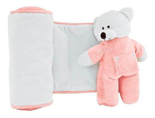 Cojin Descanso Anti Vuelco Para Bebe Chiquimundo Osito Rosa