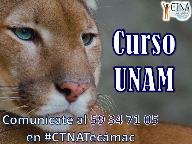 Curso de ingreso a la UNAM , en Tecámac Centro