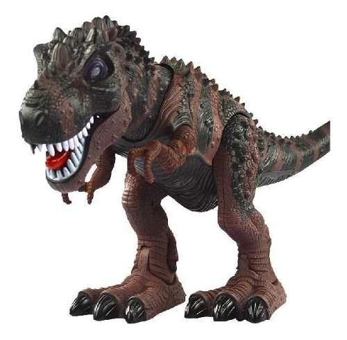 Dinosaurio De Juguete Camina Ruge Con Luces Y Sonido