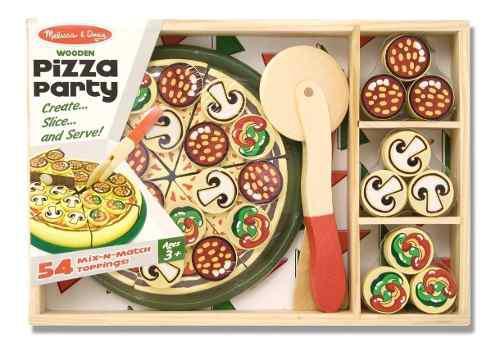 Juego De Niños Didactico Pizza De Madera Melissa And Doug